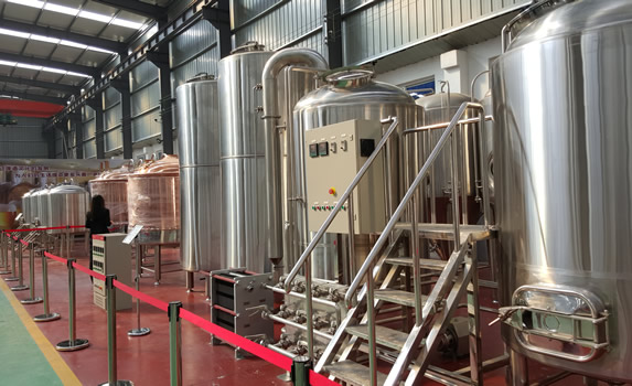 Completed 2V brewhouse (not ours).