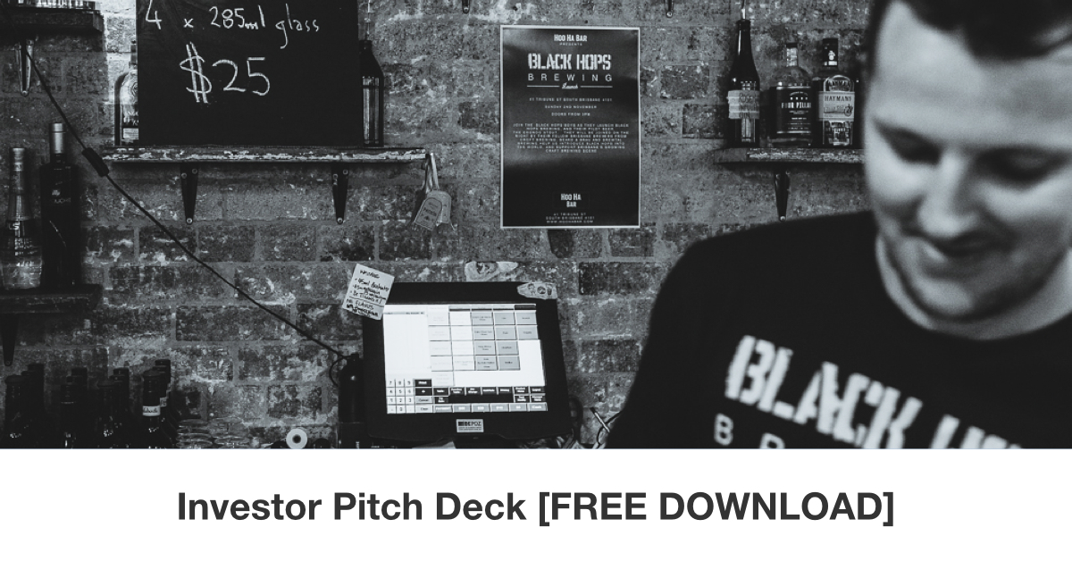 The pitch deck that we used to raise over $100,000 - Black