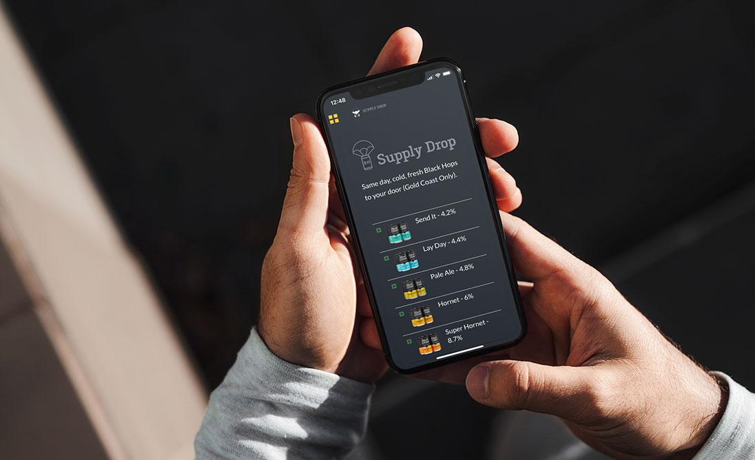 Supply Drop app built on Goodbarber