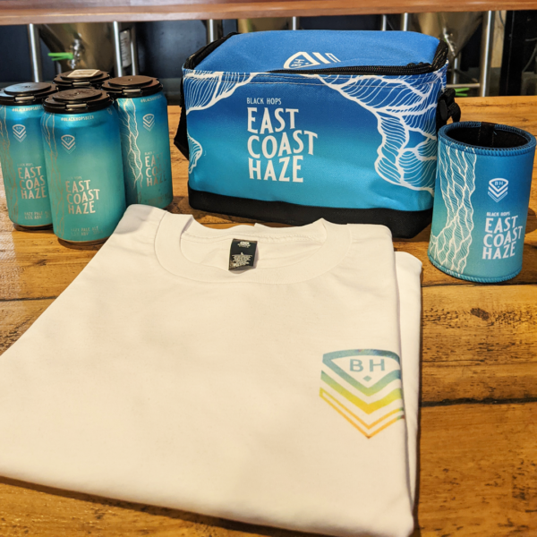 Black Hops Fathers Day Gift Pack with East Coast Haze Cooler Bag, Stubby Cooler, Beer and a shirt